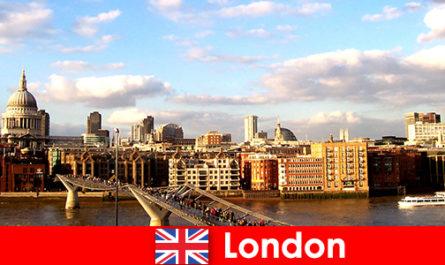 Attività di svago per i turisti nella città di Londra dall'Inghilterra