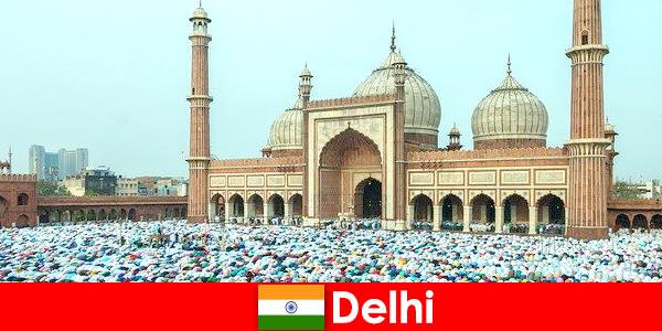 Delhi è una metropoli nel nord dell'India con edifici musulmani famosi in tutto il mondo