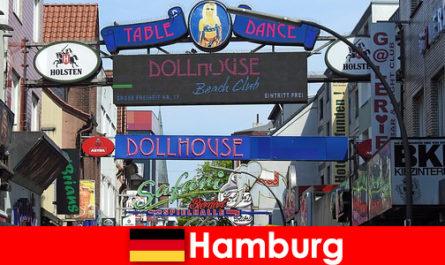 Hamburg Reeperbahn - bordelli per la vita notturna e servizio di scorta per il turismo sessuale