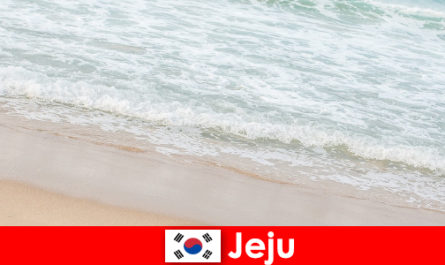 Jeju, con la sua sabbia fine e l'acqua limpida, è il luogo ideale per una vacanza in famiglia sulla spiaggia