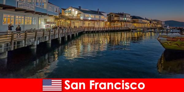 San Francisco negli Stati Uniti, il lungomare è uno dei luoghi preferiti dai vacanzieri