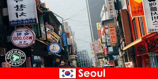 Seoul in Corea, l'eccitante città delle luci e delle pubblicità per i turisti notturni