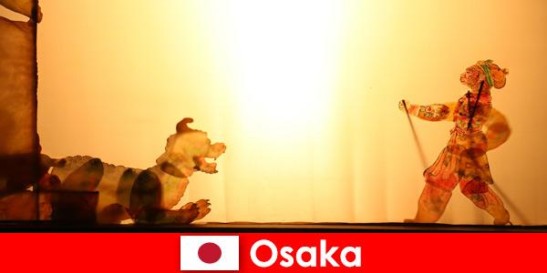Osaka Japan porta turisti da tutto il mondo in un viaggio di intrattenimento comico